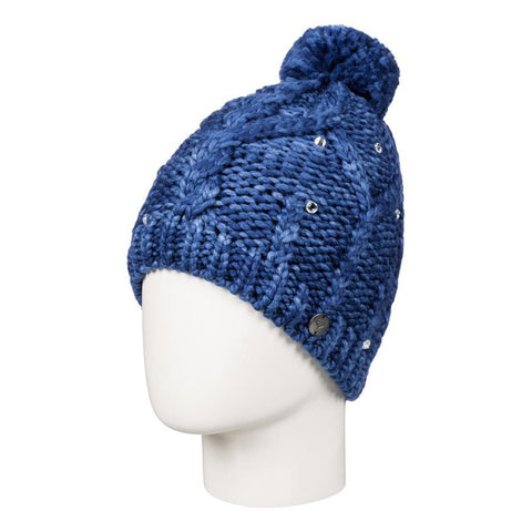 roxy Shooting Star Banie girls side view youth toques blue ergha03034-byb0