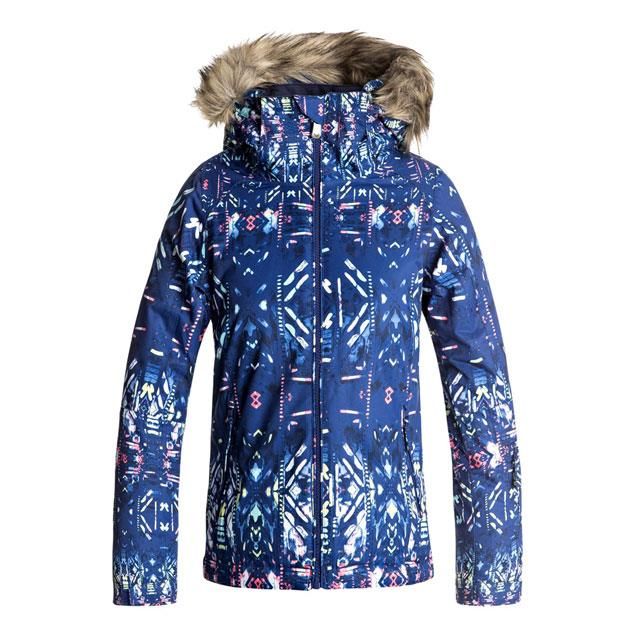 roxy American Pie Girls Jacket front view youth snowboard jacket navy/pink ergtj03037-byb7