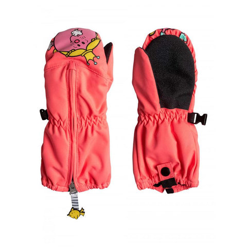 ROXY GIRLS 2-7 SNOWS UP LITTLE MISS SNOW MITTENS IN YOUTH MITTS - GLOVES AND MITTS - OUTERWEAR