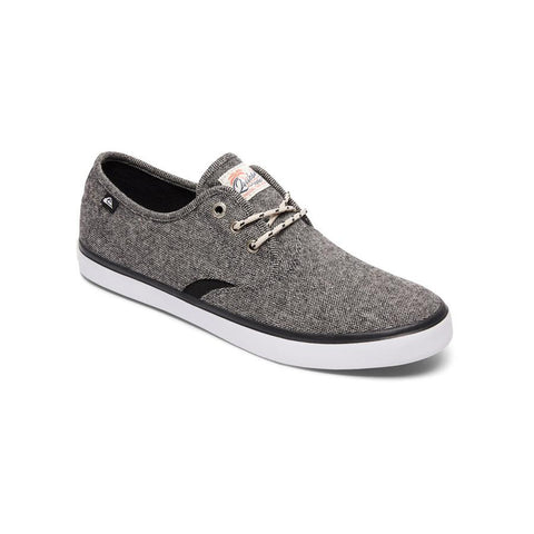 quicksilver Shorebreak Deluxe Laceable Slip On Shoes side view Mens Slip On Shoes gray aqys300061-xskw