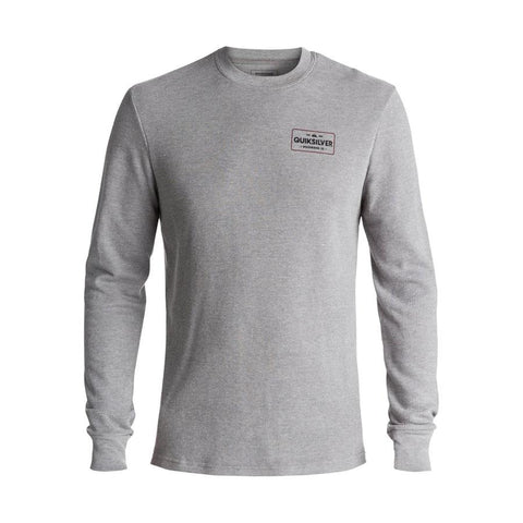 quicksilver Detention Long Sleeve Thermal front view Mens T-Shirts Long Sleeve heather gray aqyzt05050-kpwh