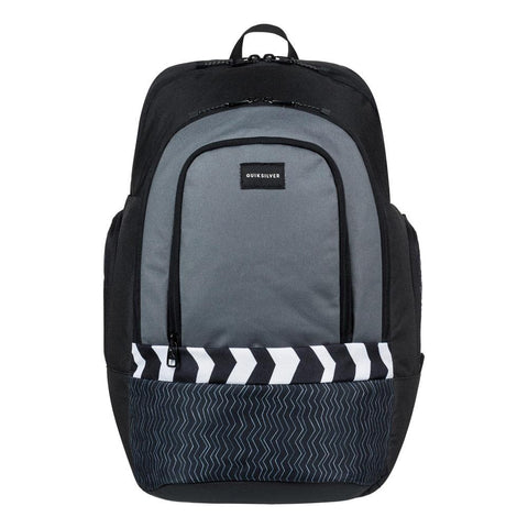 quicksilver 1969 Special front view School Backpack black/grey eqybp03424-kze6