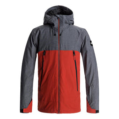 quicksilver Sierra Jacket front view Mens Insulated Snowboard Jacket red/grey eqytj03124-kqp0
