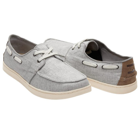 toms Shade Heritage Culver side view Mens Slip On Shoes gray 10011632