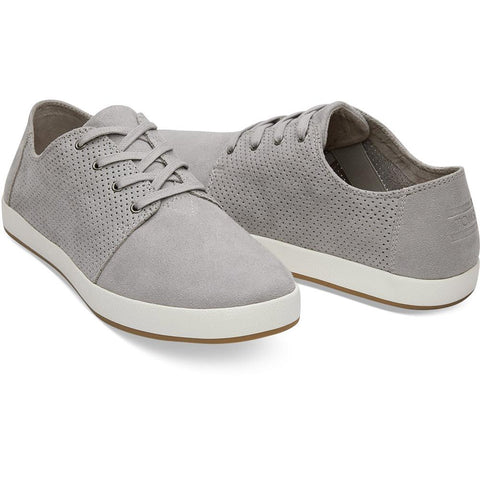 toms Drizzle Grey Perf Payton side view Mens Fashion Shoes grey 10011767