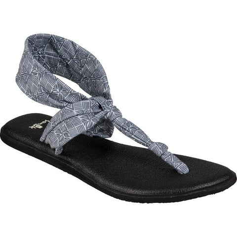 sanuk Yoga Sling Ella Prints side view Womens Fashion Sandals grey print 1091533-gttl