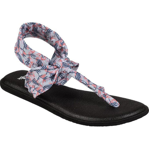 sanuk Yoga Sling Ella Prints side view Womens Fashion Sandals grey print 1091534-gppl