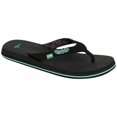 sanuk Yoga Paradise 2 Womens side view Womens Fashion Sandals black 1091869-bppm