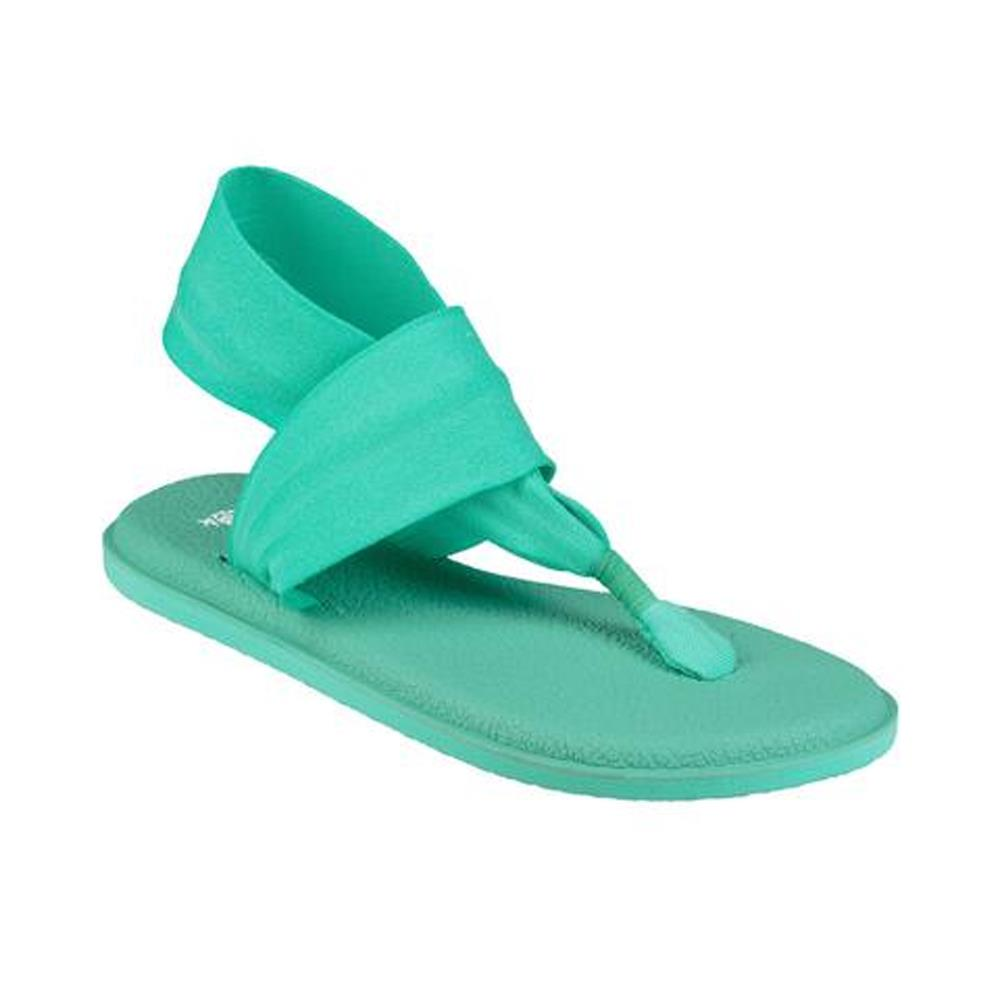 sanuk Yoga Sling 2 Specrum WO side view Womens Fashion Sandals teal 1020273-opa