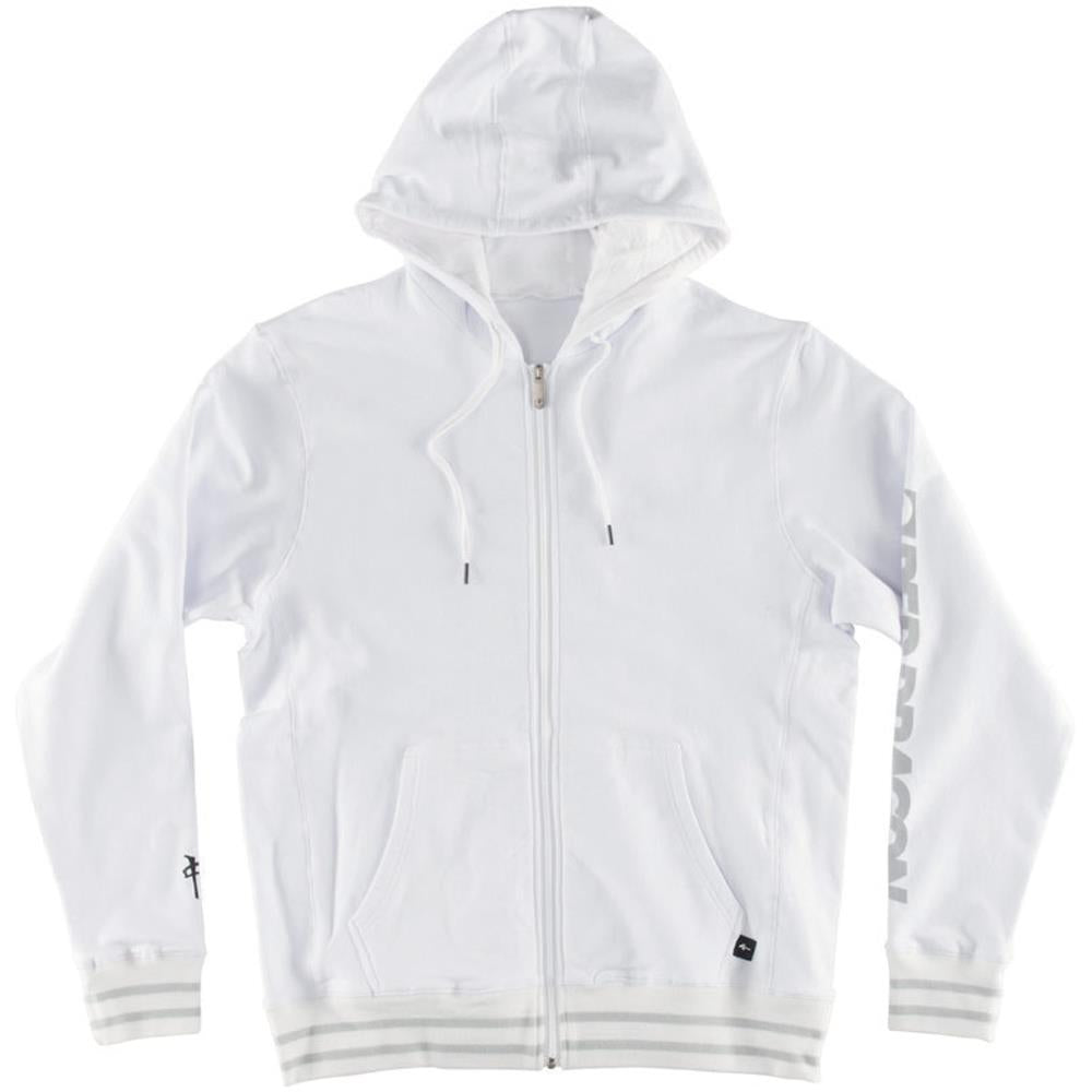 rds Speedlines Zip front view Mens Sweaters white rd8250