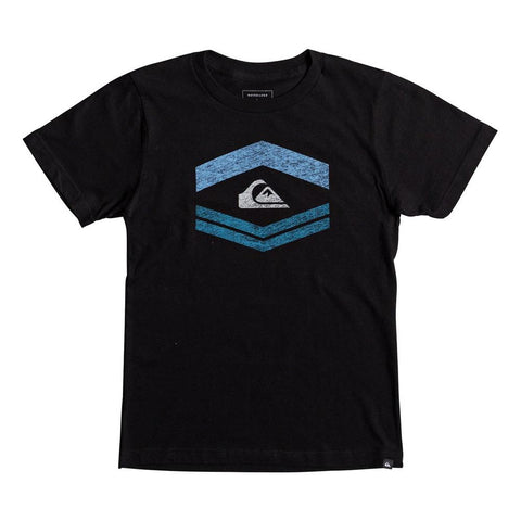 quickisilver Friendly Fire front view Boys Short Sleeve T-Shirts black aqbzt03287-kvj0