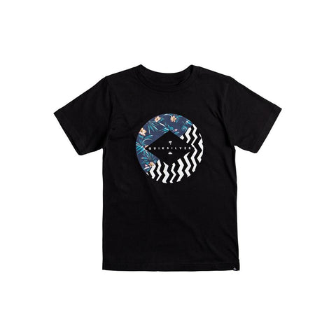 quicksilver Vert Times B Tees front view Boys Short Sleeve T-Shirts black aqbzt03288-kvj0