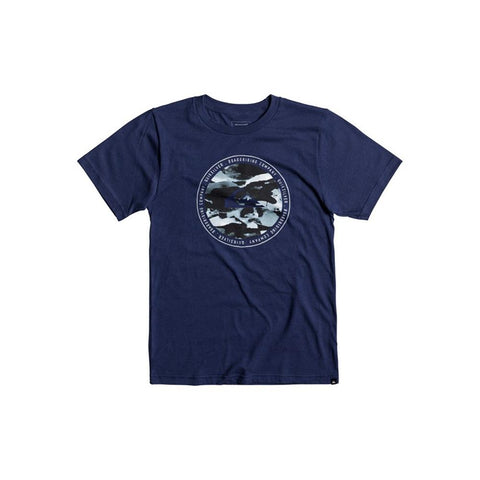 quicksilver Resin Feel B Tees front view Boys Short Sleeve T-Shirts blue aqbzt03290-bsw0