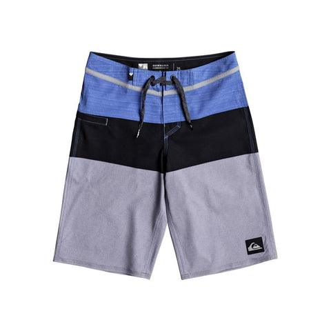 quicksilver Everday Blocked Youth front view Boys Board Shorts blue/grey eqbbs03211-bpb6