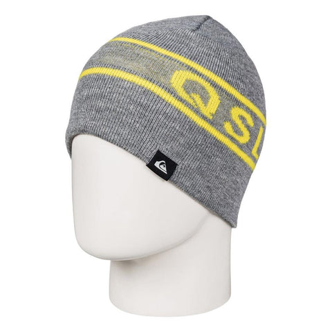 quicksilver Knox Beanie side view Youth Toques gray eqbha03018-kpgh