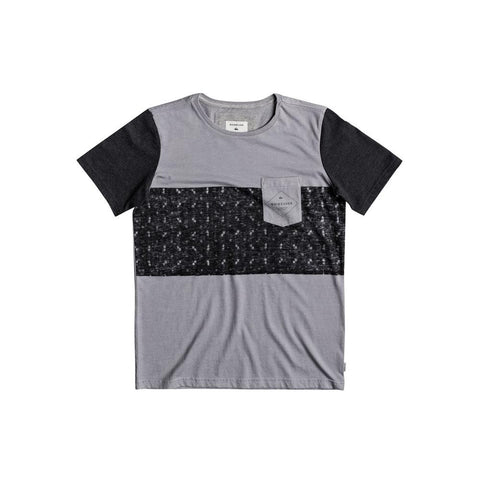 quicksilver Pogwa Youth Tee front view Boys Short Sleeve Shirts grey/black eqbkt03158-szp0