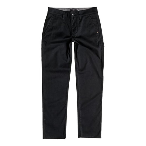 quicksilver Everyday Union Chino Pant front view Boys Jeans black eqbnp03048-kvj0