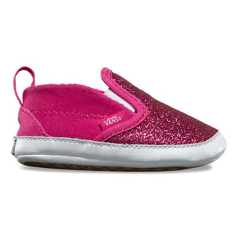 vans Infant Slip On V Crib side view Infant Shoes rose vn0a2xsl-fb7