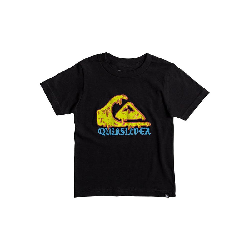 quicksilver Wax Head Boy Tee front view Boys Short Sleeve T-Shirts black aqkzt03275-kvj0