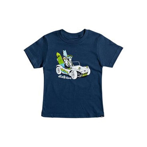 quicksilver Full & Full Boy Tee front view Boys Short Sleeve T-Shirts blue aqkzt03279-bsw0