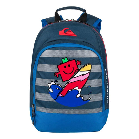 quicksilver Mr Strong Chompine front view School Backpack blue eqkbp03003-brq0