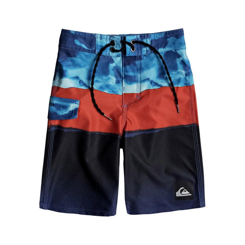 quicksilver Blocked Resin Bardshortf front view Boys Board Shorts blue multi eqkbs03128-bmm6