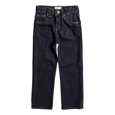 quicksilver Sequel Rinse Aw Boys 2-7 front view Boys Jeans denim eqkdp03066-bsnw