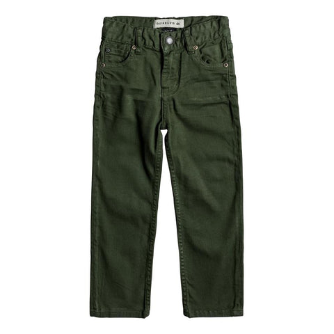 quicksilve Disortion Color Pant front view Boys Jeans green eqkdp03069-gsq0