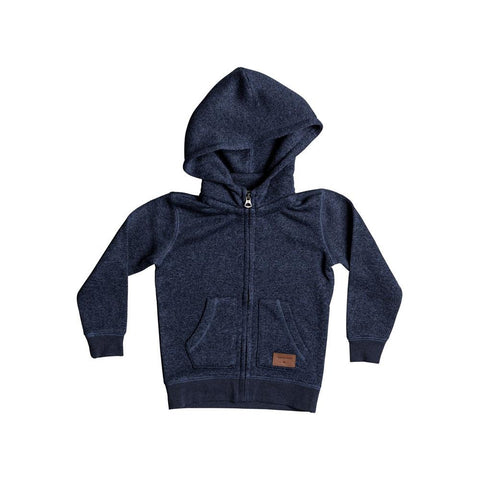 quicksilver Keller Zip Up Hoodie Boys front view Boys Hoodies navy eqkft03225-byjh