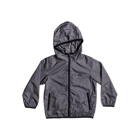quicksilver Everyday Jacket front view Boys Windbreakers dark grey eqkjk03080-ktfh