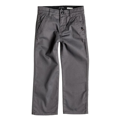 quicksilver Everyday Union Chino Pant front view Boys Jeans slate eqkn003033-kpv0