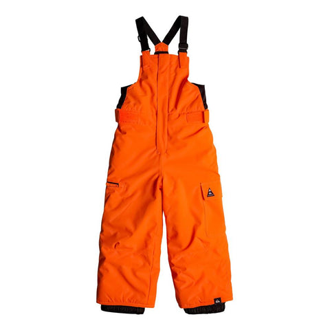 quicksilver Boogie Kids Bib back view Boys Snowboard Pants orange eqktp03002-nkr0