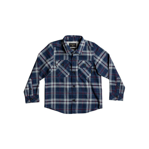 quicksilver Fitzspeere L/S Shirt front view Boys Button Up Long Sleeve Shirts blue multi eqkwt03135-bsw1