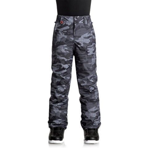 quicksilver Estate Youth Snow Pants front view Youth Snowboard Pants camo eqbtp03015-kvj9