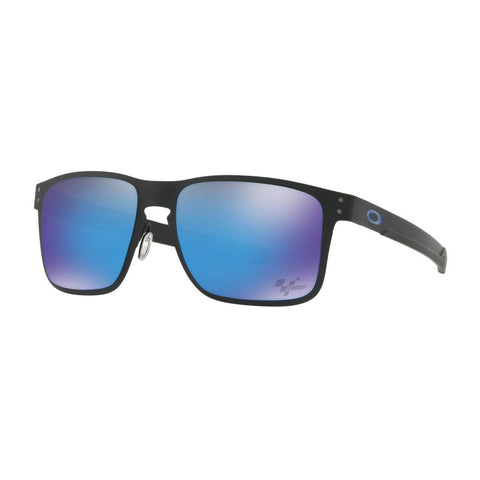 oakley Holbrook Prism Sunglasses side view Mens Lifestyle Sunglasses blue mirror black matte oo4123-1055