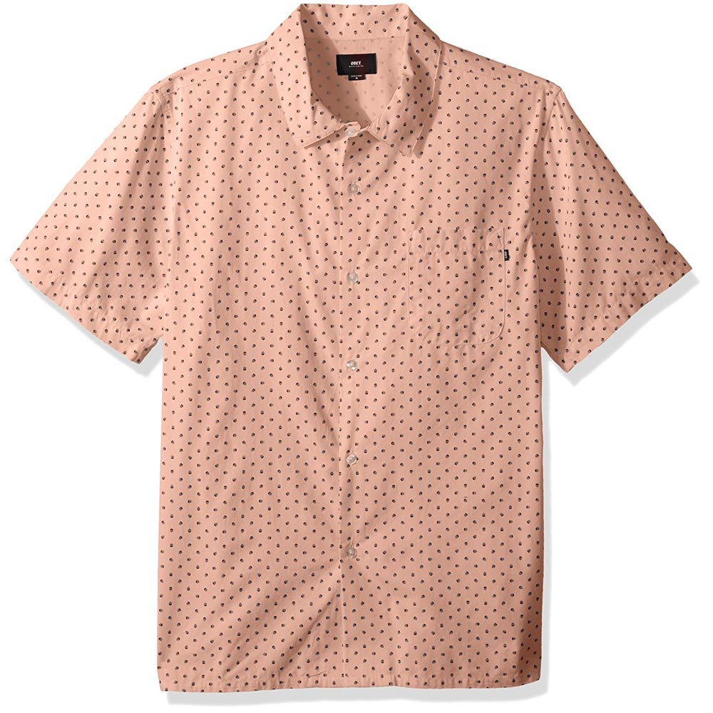 Obey Gavin Woven Mens Button Up Short Sleeve Shirts
