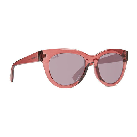 von zipper Queenie Polarized side view Womens Polarized Sunglasses purple polaized pink sjpfaque-prr