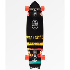 sector 9 Rainbow Unagi bottom view Top Mount Longboards black/yellow  sec918-comp-0011