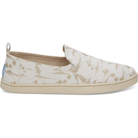 Toms Gold Palms Womens Slip On Shoes