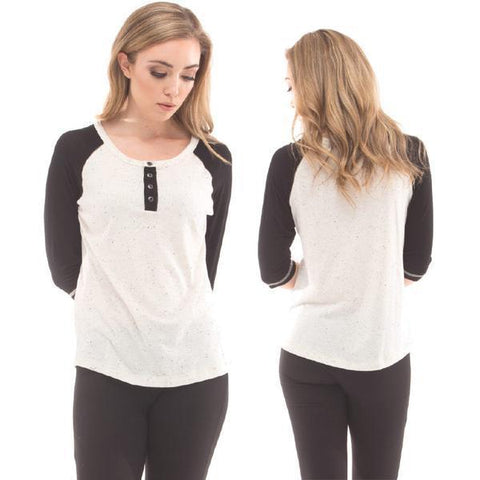 RDS Henley Heidi Womens Long Sleeve Tee