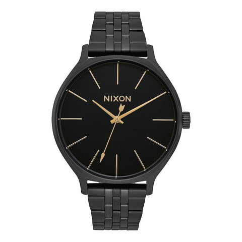 A1249-001-00, All Black, Nixon, Clique Metal Band Watch, Womens Watches, Winter 2019