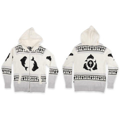 RD8502-CRB, RDS, Black/White, Zip Sweater Orca Spirit