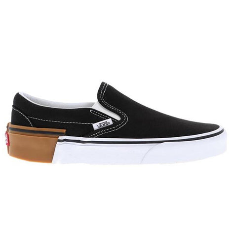vn0a38f7-u57 vans classic slip on mens slip on shoes black/white