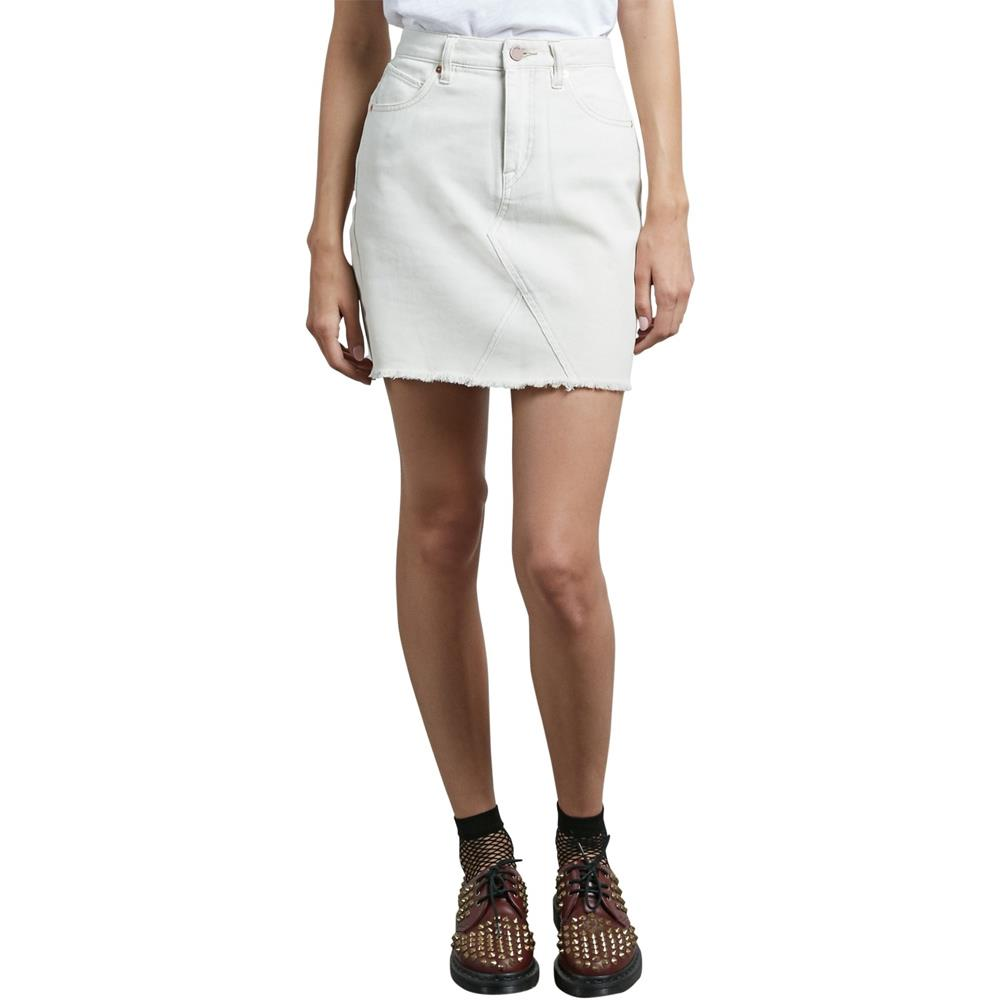 b1911802-van volcom stoned mini skirt womens jean skirts white