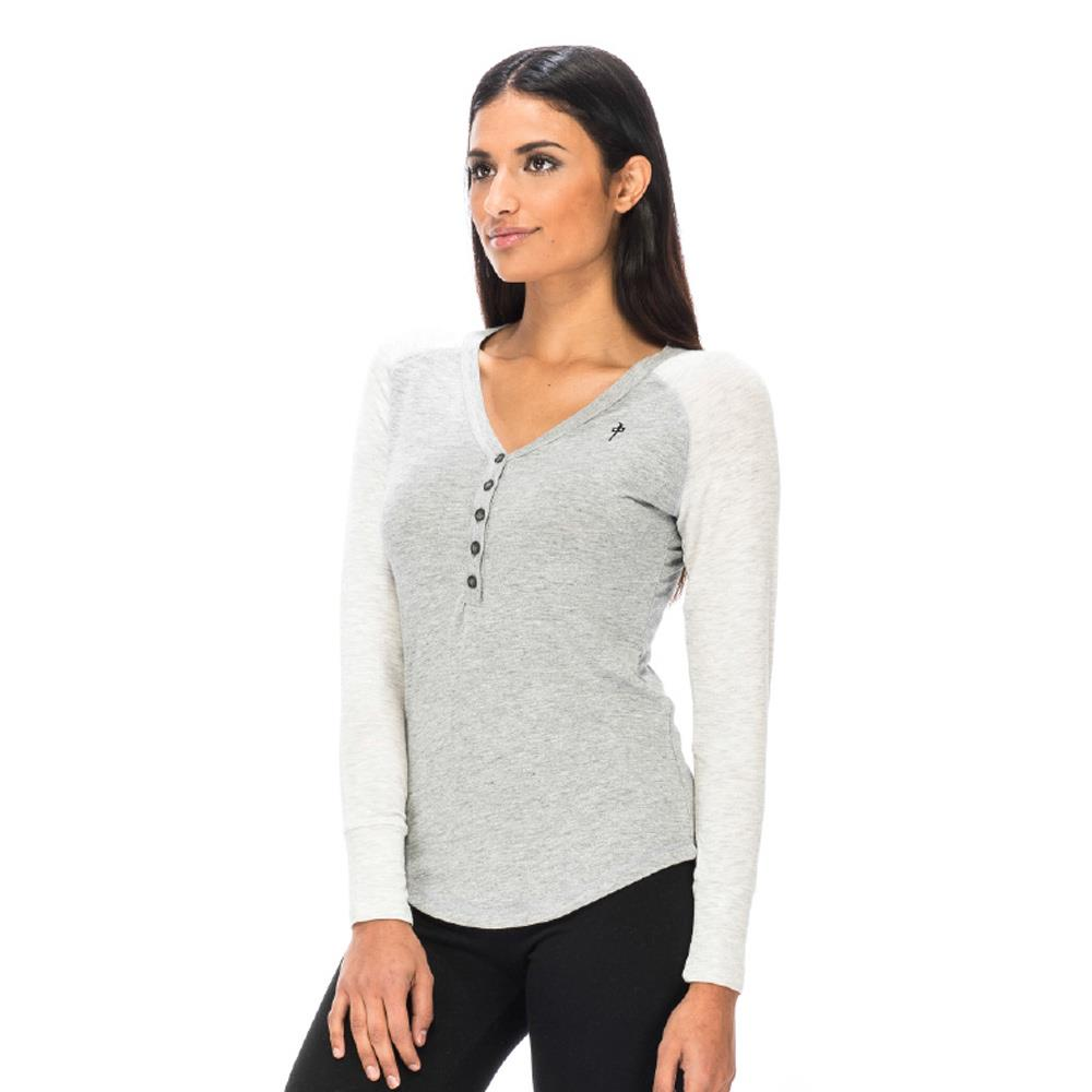 rd8018-hgth rds zenith henley l/s womens long sleeve shirts heather grey