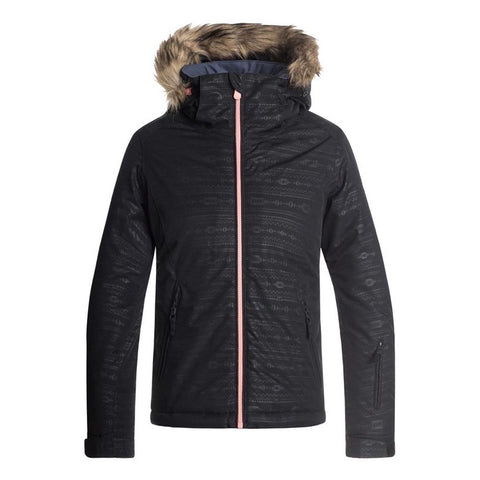 ergtj0357-kvjb roxy ameican pie jacket girls snowboard jacket black