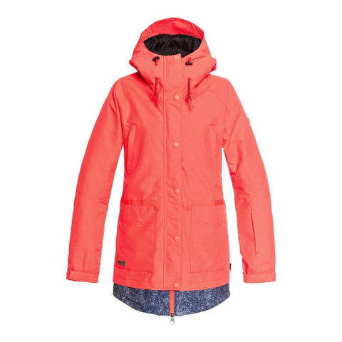 edjtj03035-mkz0 dc riji jacket womens insulated jackets coral
