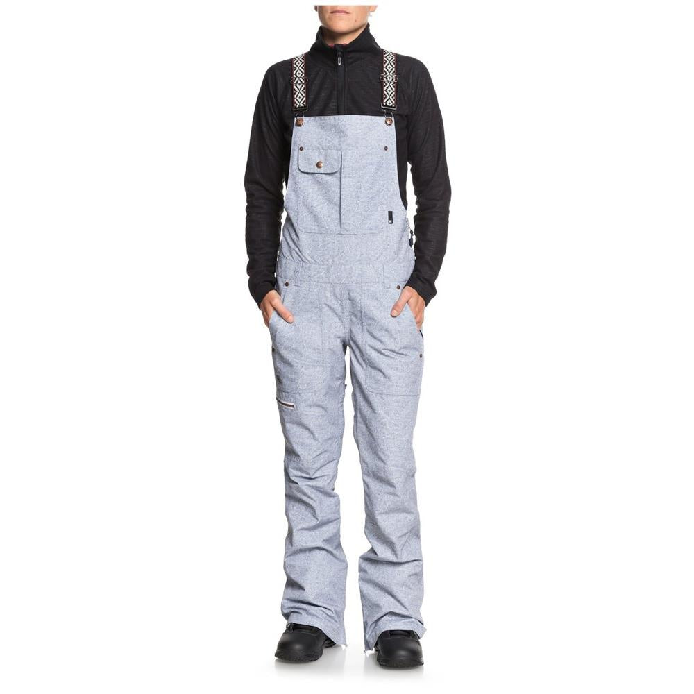 edjtjp03016-bfw6 dc collective snow bib pant womens snowpants denim