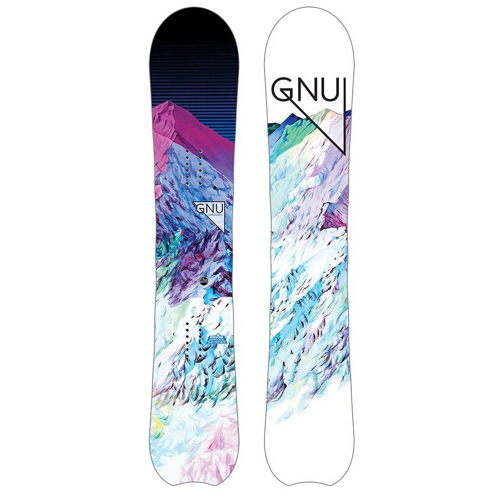 18sn014-none gnu chromatic btx womens all mountain snowboard white multu