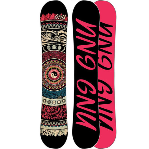 18sn018-none gnu a sym ladies choice c2x womens all mountain snowboards black/pink